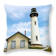Pigeon Point Lighthouse View Throw Pillow