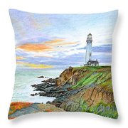 Pigeon Point Sunset Throw Pillow