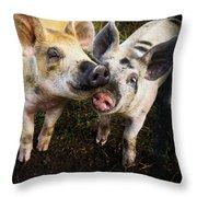 Piggy Love Throw Pillow