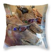 Pigs Heads Throw Pillow