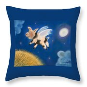 Pigs Might Fly Throw Pillow