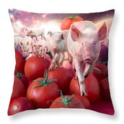 Pigs Throw Pillow