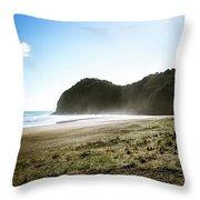 Piha, New Zealand Throw Pillow