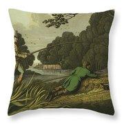Pike Fishing Throw Pillow