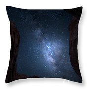 Pike National Forest Milky Way Throw Pillow