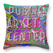 Pike Place Market 3 Throw Pillow