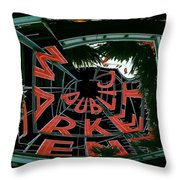 Pike Place Market Entrance 2 Throw Pillow