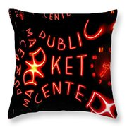 Pike Place Market Entrance 7 Throw Pillow