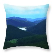 Pikes Peak 2 Throw Pillow