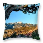 Pikes Peak From Ridge Trail Throw Pillow