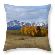 Pikes Peak In The Fall Throw Pillow