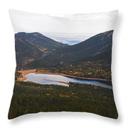 Pikes Peak Manitou Colorado Lake Throw Pillow