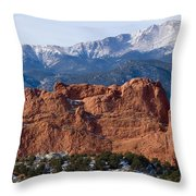 Pikes Peak Over The Garden Throw Pillow