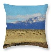 Pikes Peak Painterly Throw Pillow