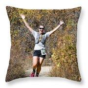 Pikes Peak Road Runners Fall Series IIi Race #3676 Throw Pillow