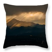 Pikes Peak Sunset Throw Pillow
