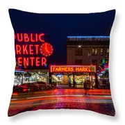 Pikes Place Market Throw Pillow