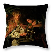 Pilate Washing His Hands Throw Pillow