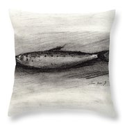 Pilchard Drawing Throw Pillow