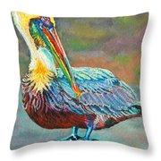 Pile High Pelican Throw Pillow