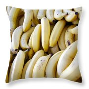 Pile Of Bananas Throw Pillow