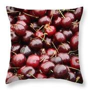 Pile Of Cherries Throw Pillow