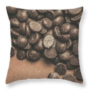 Pile Of Chocolate Chip Chunks Throw Pillow