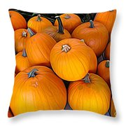 Pile Of Pumpkins For Sale Expressionist Effect Throw Pillow