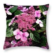 Pile Of Purple Throw Pillow