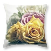 Pile Of Roses Throw Pillow