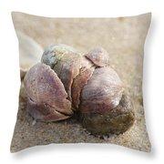 Pile-up On The Beach Throw Pillow