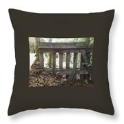 Piles Of A Season Past.. Throw Pillow