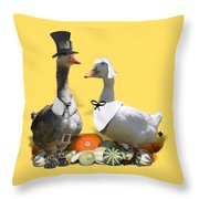 Pilgrim Ducks Throw Pillow