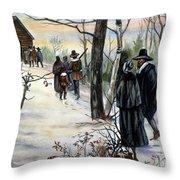 Pilgrims: Church Throw Pillow