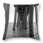 Black And White Pier Throw Pillow