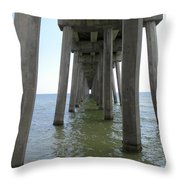 Underneath The Pier Throw Pillow