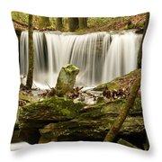 Pillar And Waterfall Throw Pillow