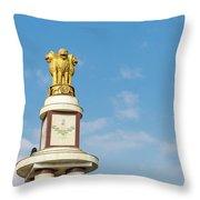pillar for the 50th anniversary of India, Chennai, Tamil Nadu Throw Pillow