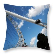 Pillar Of London S Ferris Wheel  Throw Pillow