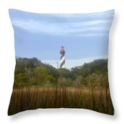 Pillar Of St. Augustine Throw Pillow