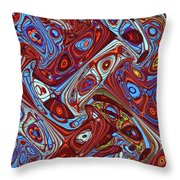 Pillars In The Sky Abstract #4 Throw Pillow
