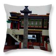Pillars Of A Monastery Throw Pillow