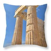 Pillars Of The Parthenon Throw Pillow