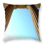 Pillars Of The Sky Throw Pillow