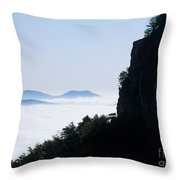 Pilot And Sauertown And Hanging Rock Mountains Throw Pillow