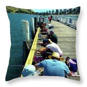 Pilot Bay Beach 6 - Mount Maunganui Tauranga New Zealand Throw Pillow