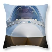 Pilot In The Cockpit Of A U.s. Air Throw Pillow