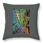 Pilot Rock Face Throw Pillow