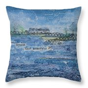 Pilots Cove Cottages Throw Pillow