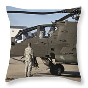 Pilots Prepare For Their Mission In An Throw Pillow